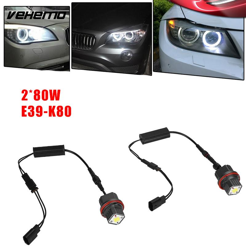 Vehemo DC 12V Lamp LED Light Decoration Headlight Super Bright Bulb for BMW E39 K80