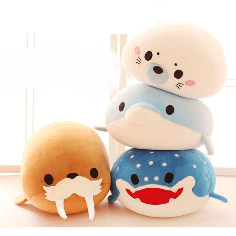 어린이를위한 8 종류의 수생 생물 봉제 장난감 20cm 인형 고품질의 부드러운 면화 아기 Brinquedos 동물 선물