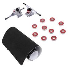 Lightweight 5 Aluminium Alloy Skateboard Longboard Trucks with ABEC 7 Speed  Bearings & Deck Sandpaper Grip Tape