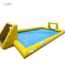 Sea Shipping Cheap Price Inflatable Football Field Soapy Stadium Water Soap Soccer Field