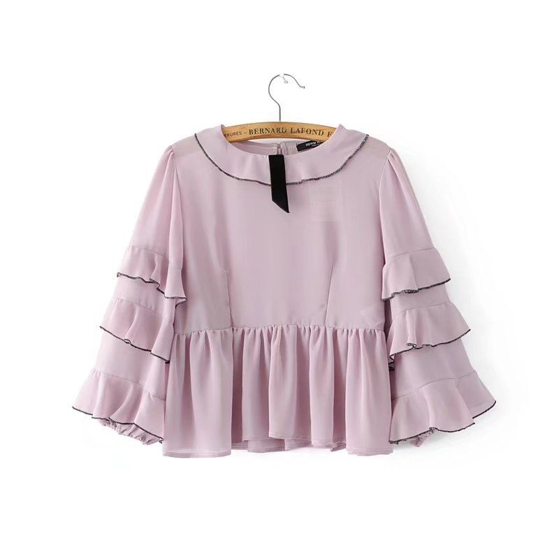 Buy AA&ZZ summer pink puff sleeves blouse shirt blusas