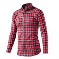 Luopei 2016 Человек Клетчатую Рубашку Лето Мода Turn Down Воротник