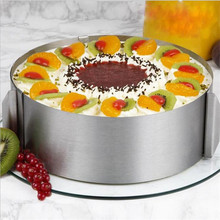 6-12 inch Adjustable Stainless Steel Cake Mold Cookie Fondant Mousse Ring Baking Tool Mould Round Decorating Tools
