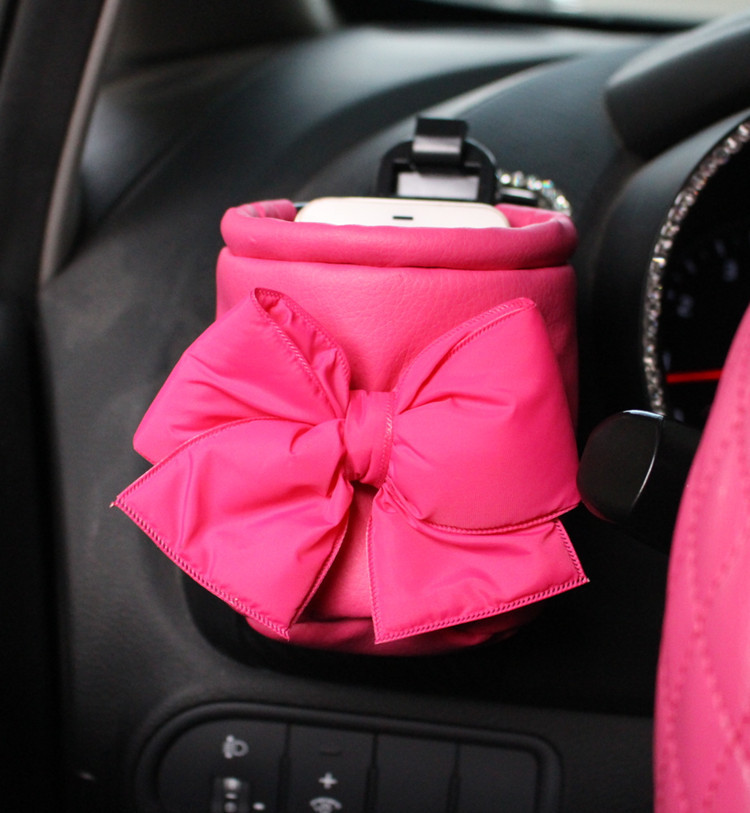 Universal Red Car Tissue Box Glove Box Car Accessories For