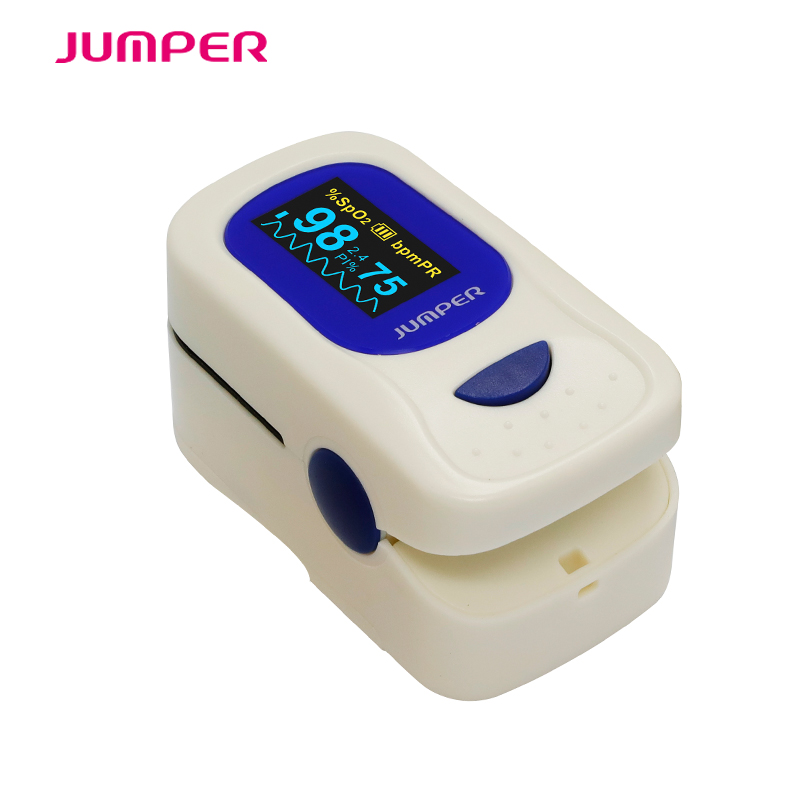 Jumper Automatic Finger Pulse Oximeter With Case Blood Oxygen Saturation SpO2 PR OLED display CE oximetro de dedo pulse oximeter new finger pulse oximeter accurate oximetro for medical equipment and daily sports fitness pulse rate alarm meter pr spo2 ce