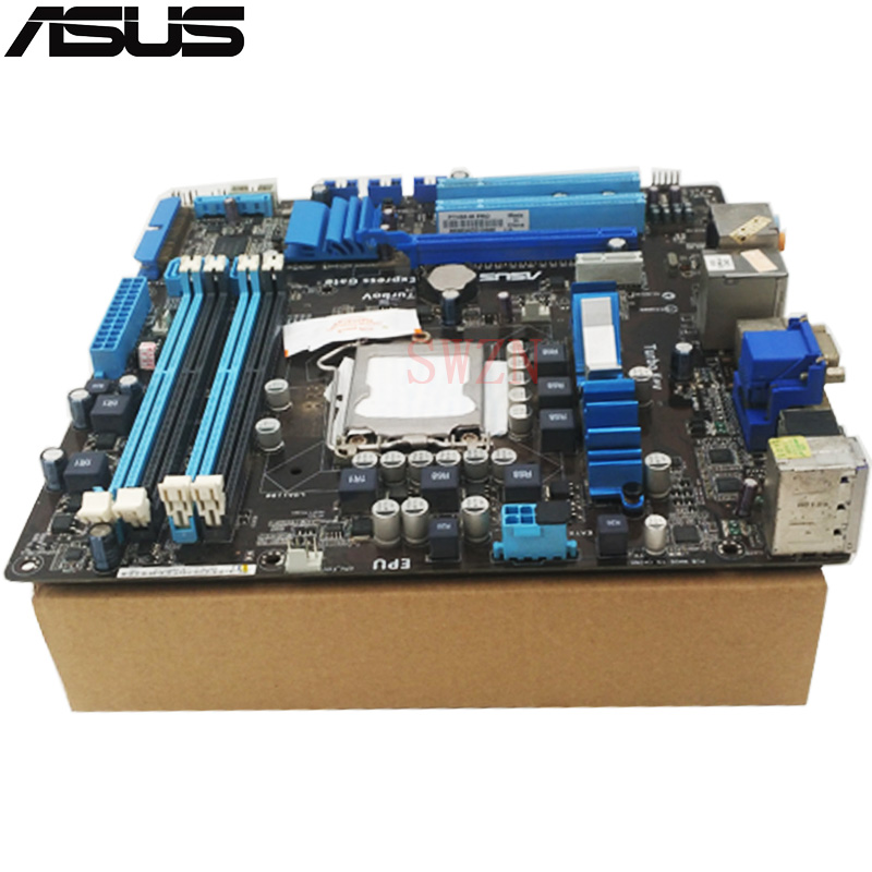 цены original Used Desktop motherboard For ASUS P7H55-M Pro support Socket LGA1156 4*DDR3 support 16G 6*SATA3 uATX