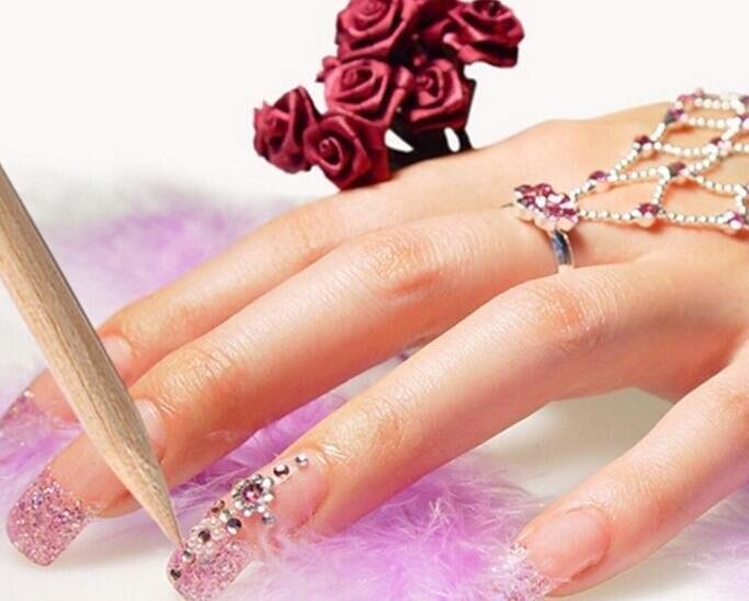 wood nail art 50000pcs nail art orange wood sticks 115cm cuticle pusher remover manicures care tools ツ50000pcs