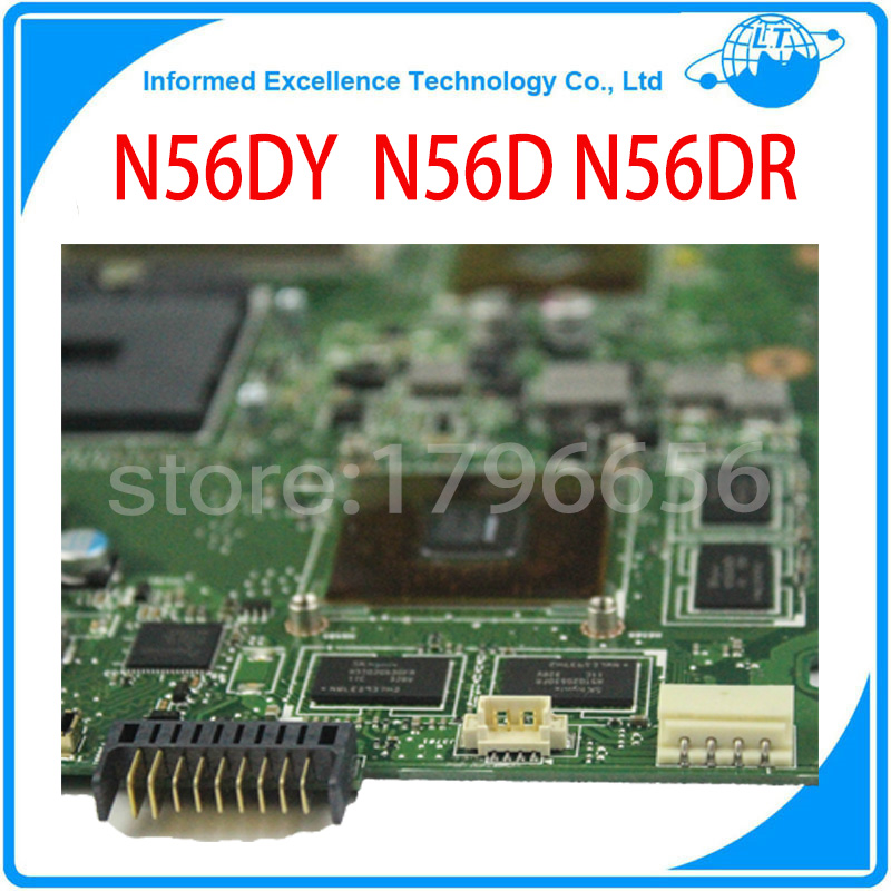 Original laptop motherboard for asus N56DR motherboard non-integrated mainboard fully tested free shipping asus g31 motherboard g31tlm g31tlm2 fully integrated g31tm v1 0 lot