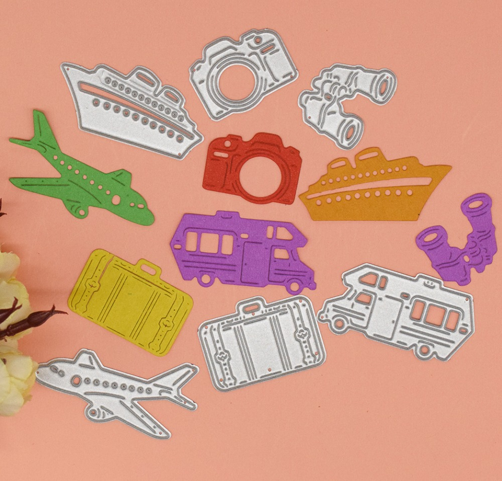Travel Stencils Transportation Metal Cutting Dies For DIY Scrapbooking Paper Cards Decorative Embossing Carft