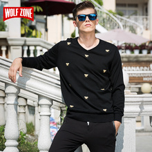 2017 Spring 3d Regular Sweater Men Fashion Standard Acrylic No Cardigan Blusas Mens Sweaters V-neck Full Wool Top Time-limited