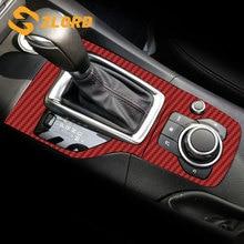 Zlord Автомобильная внутренняя ручка переключения передач Панель крышка Накладка наклейка подходит для Mazda 3 Axela