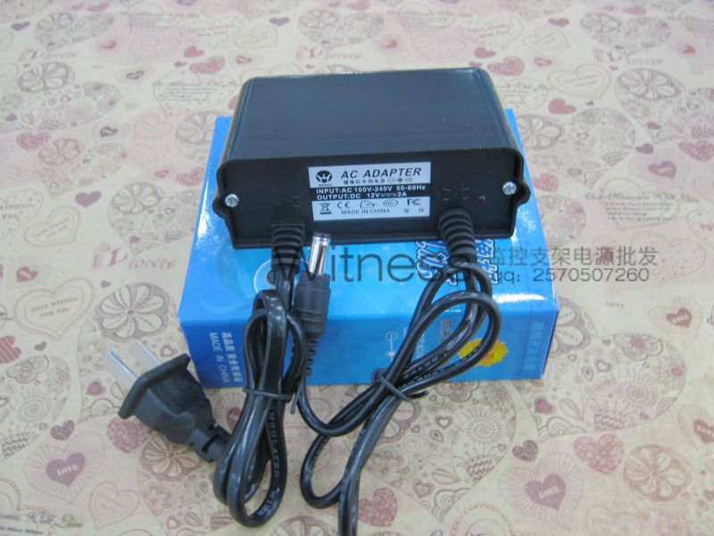 Free shipping gualanteed 100% 4*12V 2A DC switch Power Supply Adapter For CCTV Camera