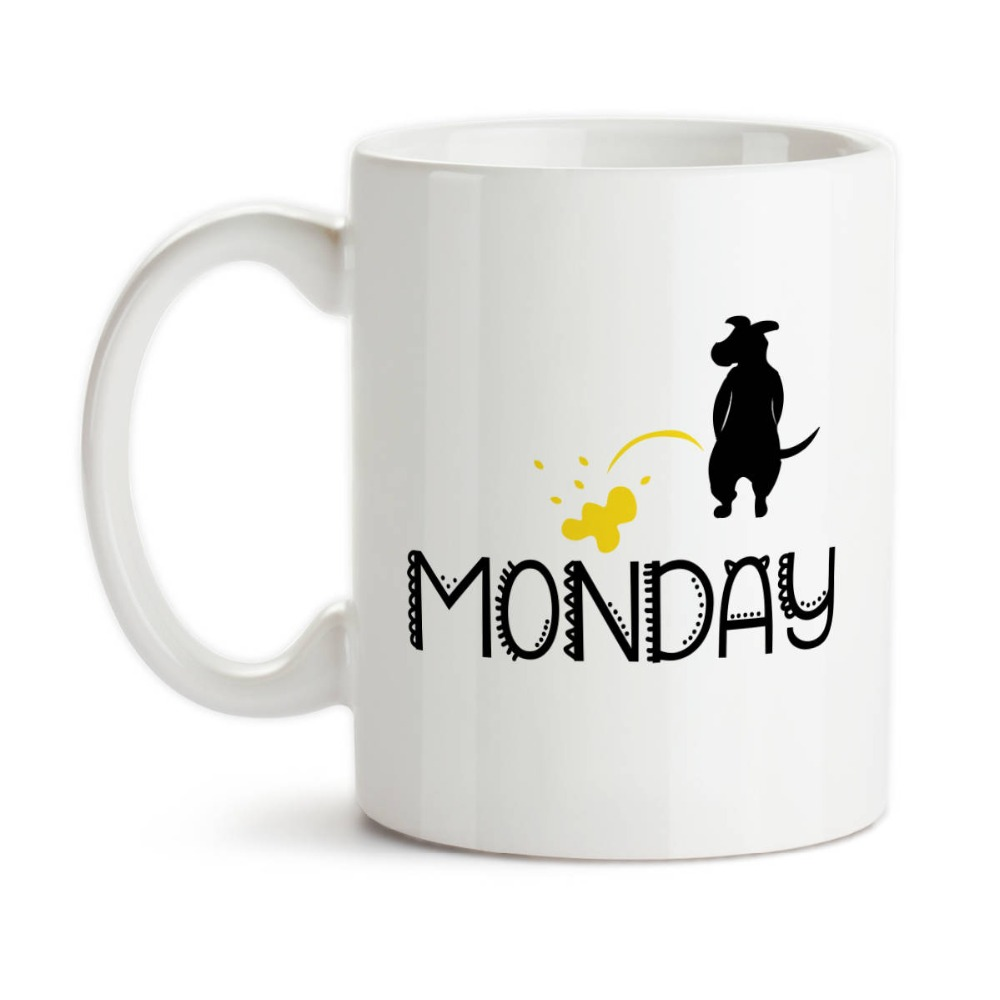 office mugs. Pee On Monday Office Mugs Milk Cup Wine Beer Cups Friend Gifts Coffee Home Decal Novelty Porcelain Mugs-in From \u0026 Garden Aliexpress.com