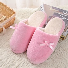 Pink Women Home Slippers House Female Slippers For Indoor Bedroom House Soft Bottom Room Shoes Adult Plush Flats Christmas Gift