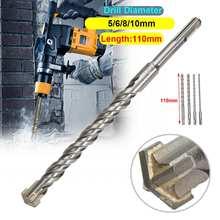 5/6/8/10 мм высокое Скорость на высоком каблуке 11 см, бетонное долото двойной SDS плюс Слот для каменной кладки с головой молотка инструмент белый Сталь ключ, дюймовый стандарт для электрических дрил