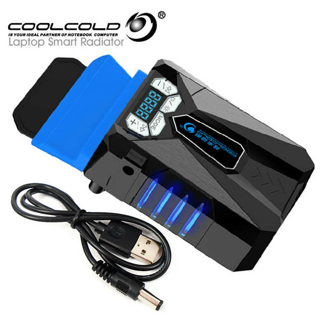 US $15 2 41% OFF|CoolCold Ice Magic 5 Portable USB Laptop Cooler Cooling  for Laptop LED Display Smart Air Cooled Notebook Radiator-in Laptop Cooling