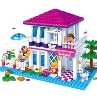 Banbao 6105 425 pcs Wedding Series Holiday Villa Blocks Toys for Girls Plastic Building Block Sets Educational DIY Bricks Toys