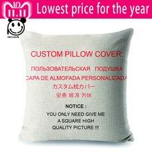 Wholesale Wedding Gift Customized Cushion Cover Sofa Pillow Decor Double Print Sequin Silver 40*40cm Custom