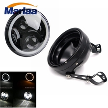 Marlaa 7″ Daymaker Led Headlight Housing mount brackets for Harley Motorcycles 7 Inch Led Headlight