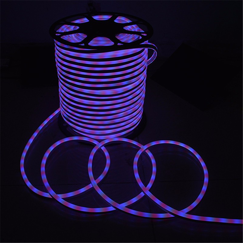 Waterproof 15M 2835 SMD LED Flexible Neon Rope LED Strip Light Christmas Outdoor AC110V US Plug 0 9m smd 3528 90 leds waterproof led rope light festival lighting