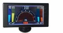 5 «LCD 6 in1multiple fonction jauge tachymètre, volts, horloge, RPM, température de l'eau, température d'huile, presse à huile de voiture auto meter LED jauge