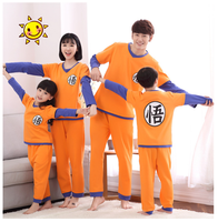 Family Pajamas Long Sleeved Dragon Ball Cotton Cute Cosplay Family Suit Mother Dad Kids Boy Girl Family Homewear Sleepwear