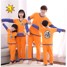 Family Pajamas Long Sleeved Dragon Ball Cotton Cute Cosplay