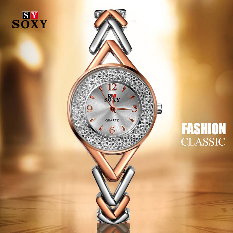 New Design SOXY Quartz Watch Feminino Relogio Bracelet Womens Wristwatch Casual Reloj Gold/Silver Mujer Saati Drop Shipping
