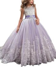 amzbarley girls dresses prom ball gown kids lace tulle wedding party dresses girls pageant formal dress 5 14 years Girls Pink Lace Bodice Tulle Ball Gown Flower Girl Dresses Communion Gowns Dresses Kids Party Clothes H218
