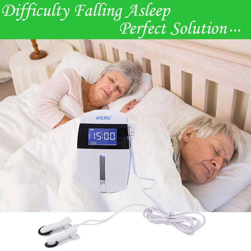 Anxiety Insomnia Aid Machine Shallow Sleep Relaxation Pulse Therapy Cranial Electrotherapy Stimulator Medical Device Sleep Aid tryptophan 99% l tryptophan 100pieces bottle support relaxation promote result sleep aid support positive mood free shipping