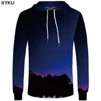 KYKU 갤럭시 후드 남성 우주 Hoddie 하라주쿠 스웨터 캐주얼 남성 의류 큰 사이즈 스웨터 3d 후드 2018 후드