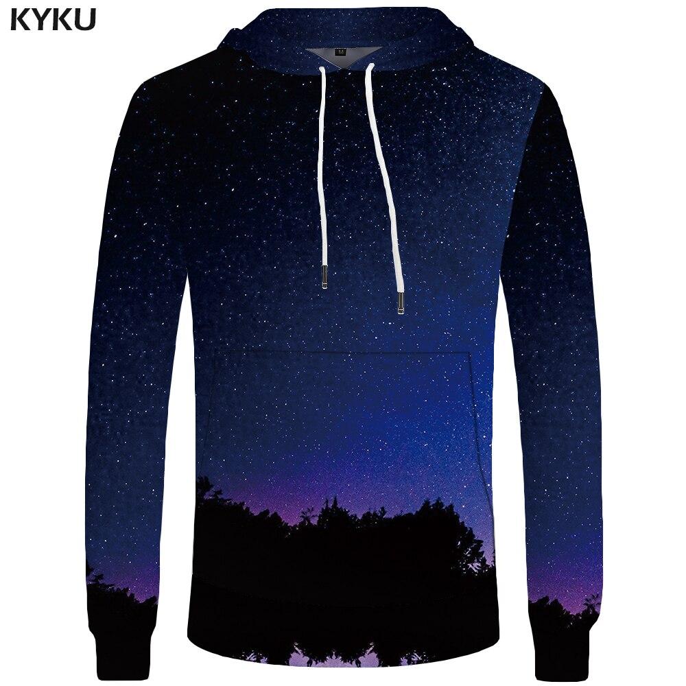 KYKU Galaxy Hoodies Men Universe Hoddie Harajuku Sweatshirts Casual Mens Clothing Big Size Sweatshirt 3d Hoodies 2018 Hooded