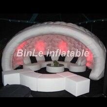 2018 hohe Qualität 5m hemisphärischen aufblasbaren Zelt tragbare Luna Hochzeit führte Kuppel aufblasbare Party Zelt zum Verkauf