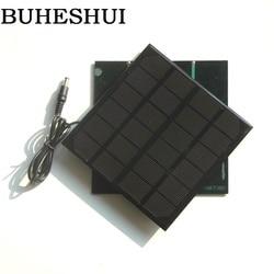 BUHESHUI 3 W 6 V panel słoneczny monokrystaliczny ładowarka DIY panel słoneczny System do 3.7 V akumulatorowa lampka LED + DC 5521 kabel 145*145 MM