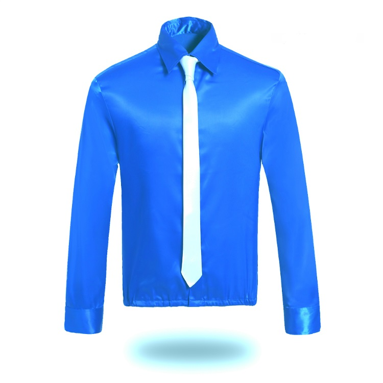 New MJ Professional Cosplay MICHAEL JACKSON 99 DANGEROUS SHIRT WITH TIE Red Blue Color