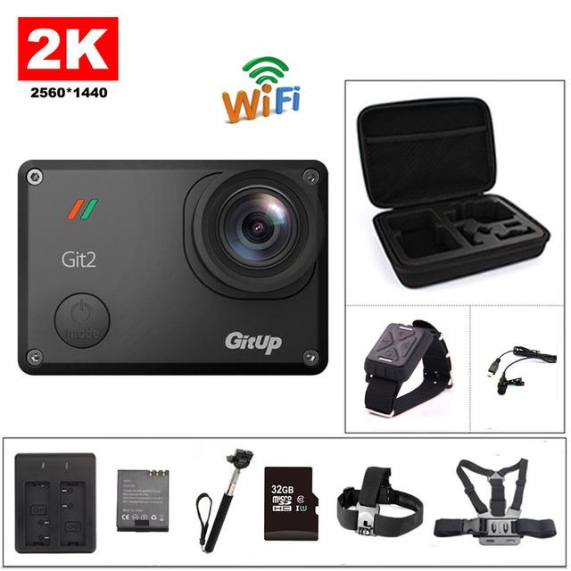 Câmera ação git2 gitup deportiva originais novatek 96660 remoto ultra hd 2 k wifi 1080 p 60fps esporte ir à prova d' água pro câmera