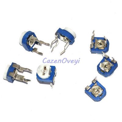 20pcs/lot RM065 RM-065 100 200 500 1K 2K 5K 10K 20K 50K 100K 200K 500K 1M Ohm Trimpot Trimmer Potentiometer Variable Resistor