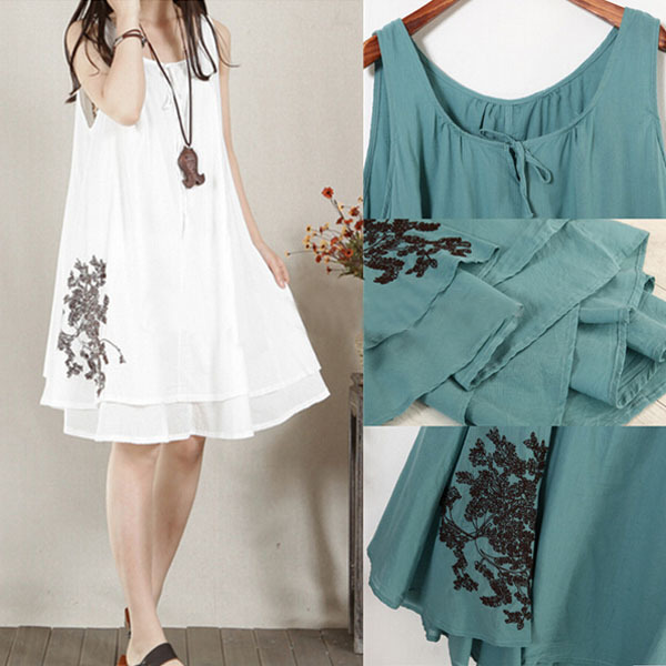 Loose Sling Linen Maternity Dress Comfortable Clothes For Pregnant Women Summer Tank Clothing For Pregnancy Vintage Shirt 2019