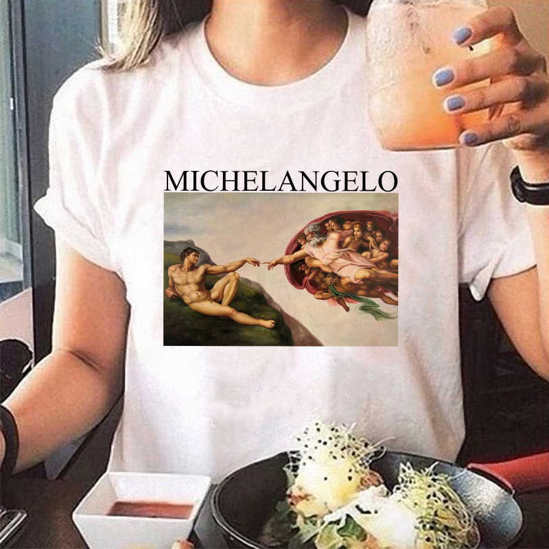 3a444796f8f Fashion Summer Women T-shirt Short Sleeve O Neck Tops Casual Michelangelo  Sistina Harajuku Ulzzang