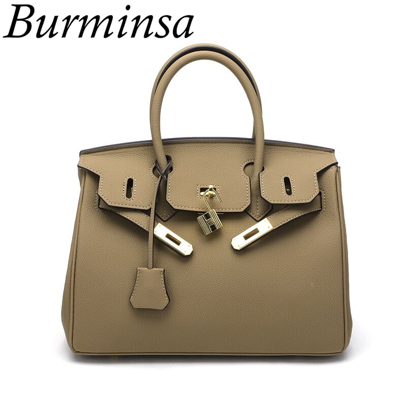 Burminsa Gained Women Handags PU Leather Causal Tote Luxury Female Shoulder Bags Designer High Quality Messenger Bags New 2018