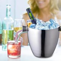 Stainless Steel Ice Bucket With Tong Corrosion resistant Drink Ice Cube Container Barware For Party Barbecues Picnics Bars