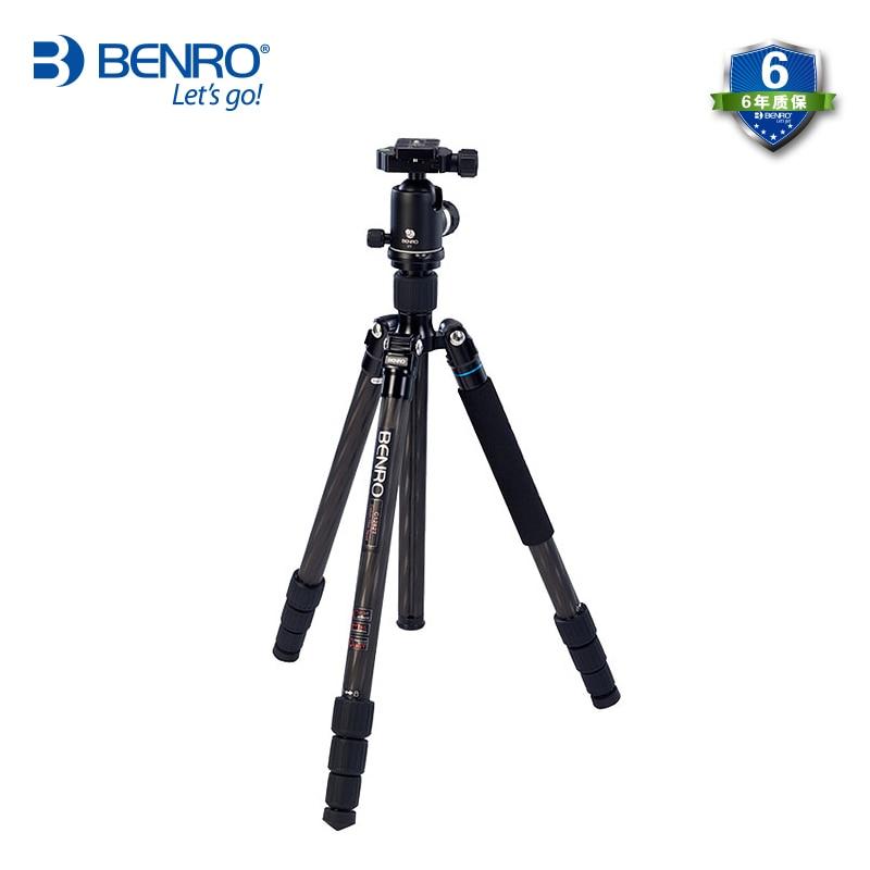 Benro C2282TV2 Carbon Fiber Tripod Flexible Monopod For Camera With V2 Ball Head Max Loading 18kg professional Tripods