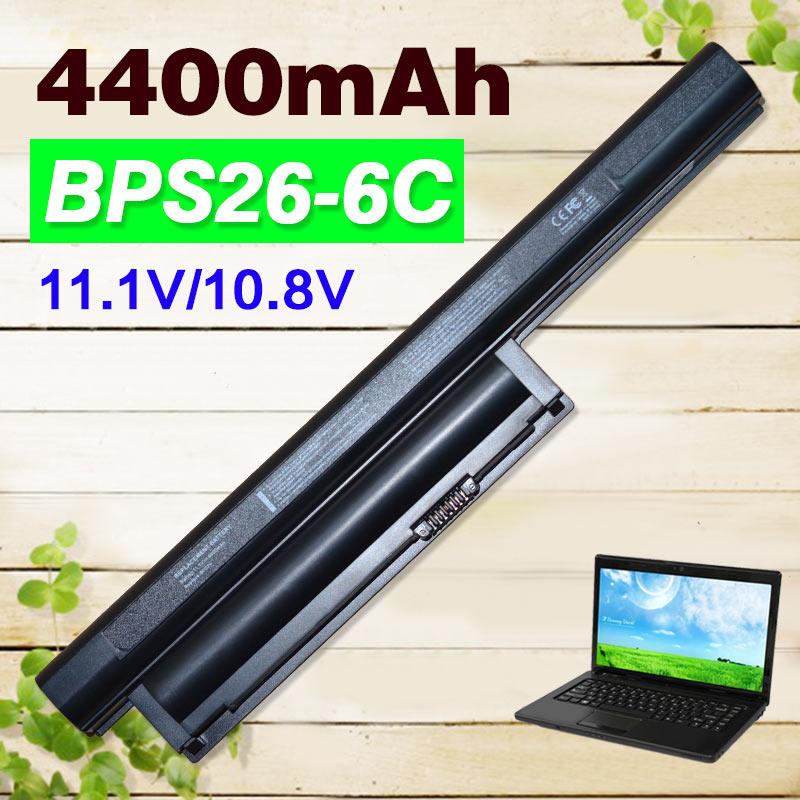 4400mah 11.1v Laptop Battery For Sony Vaio bps26 VGP-BPL26 VGP-BPS26A vgp bps26 SVE17 VPC-CA VPC-CB VPC-EG VPC-EH VGP-BPS26 azerty for sony vaio vpc cb vpccb series 148954941 clavier french keyboard