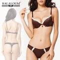 Сексуальный бюстгальтер и трусики комплект марка Balaloum Acousma французские женщины бюстгальтера росту белье шелковое белье стринги кружева окантовка намекает