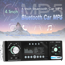 4.1 Inch 12V 1 Din HD Car Stereo Radio Bluetooth MP3 MP5 Player Support USB / FM / TF / AUX with Remote Control 7 inch hd bluetooth auto car stereo radio in dash touchscreen 2 din usb aux fm mp5 player night vision camera remote control