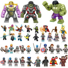 44 pcs Legoing Endgame Antman 4 Capitão Marvel Thor Vingadores Thanos Máquina de Guerra figuras Spiderman homem de ferro Toy Building Block(China)