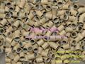 3.2*2.8*4.0mm 13# Blonde 1000pcs copper flared ring easily locks/copper tube micro link/ring /bead for i tip hair extension