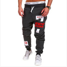 Men Pants 2017 New Spring Loose Tracksuit Letter Harem Pants Sweatpants Hiphop Trousers Joggers Masculina Plus Size M-3XL