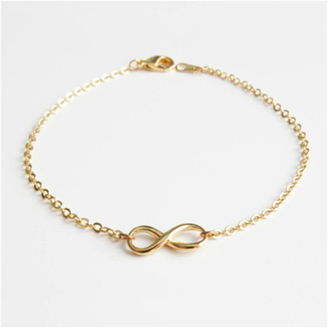 New Promotion Custom Lucky Love Infinity Bracelet Whole Gold And Silver Plated Charm Knot Bracelets