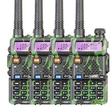 4pcs Baofeng UV 5R two way radio walkie talkie 5W power 1800mAh battery 146-174MHZ 400-520MHZ CB ham radio 128CH UV 5R radio